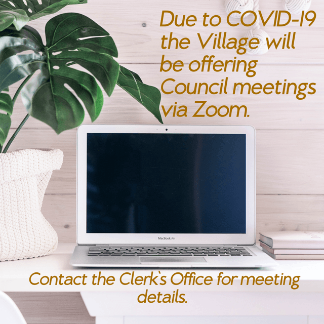 Council Meetings Offered via Zoom